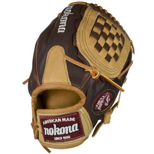 Nokona Buffalo - Nokona Junior Buffalo Combo Baseball Glove, Right Hand Throw, 10.5-Inch