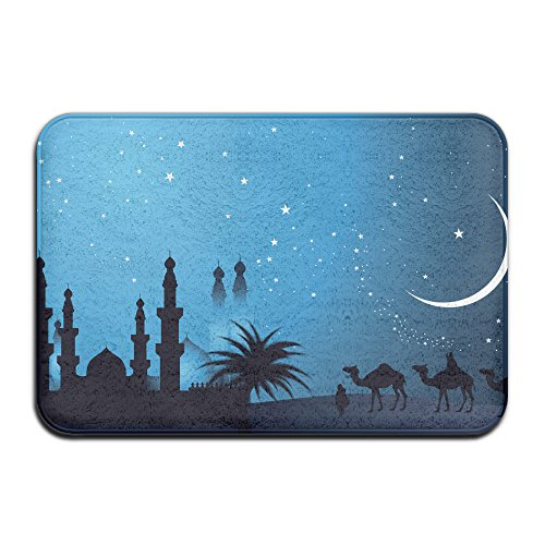 Islamic Camel Palm Moon Home Doormat Floor Mat 4060 Non-slip by GHNN Mat