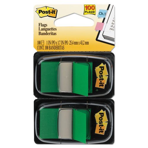 Standard Tape Flags in Dispenser Sold As 1 Pack Green Post-it Flags Mark and color-code Post-it Flags Products - With the convenient pop-up dispen 100 Flags//Dispenser - All flags are removable and repositionable Get attention and get results!