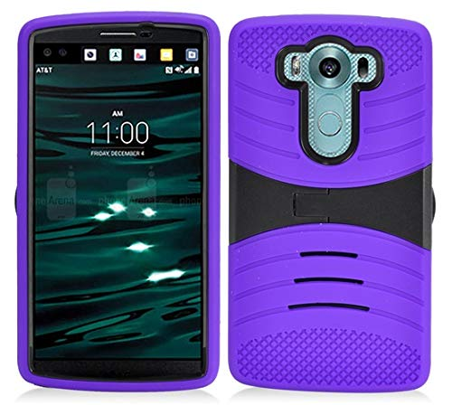 - LG V10 (AT & T, T-Mobile, Verizon), LF Dual Layer Hybrid Armor Case with Stand Cover, Stylus Pen & Wiper Accessory (Armor Stand Purple)