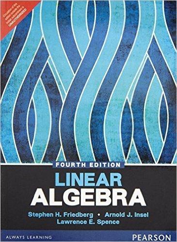 Linear algebra friedberg