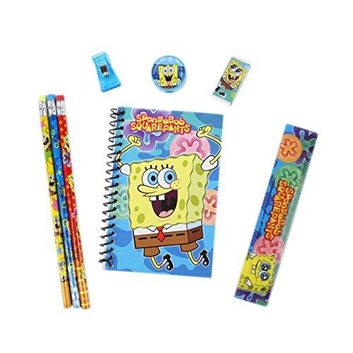 Officially Licensed Nickelodeon 8 Piece Stationery Set - SpongeBob SquarePants (School Spongebob Supplies)