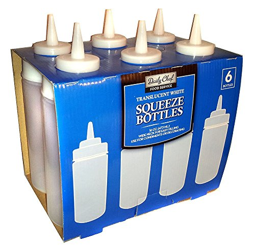 Daily Chef translucent squeeze bottles