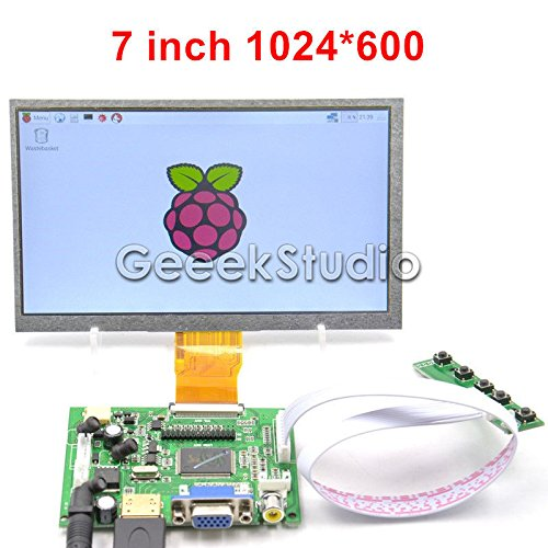 7 inch 1024*600 TFT LCD Display Driver Board HDMI VGA 2AV for Raspberry Pi (Driver Software Vga)