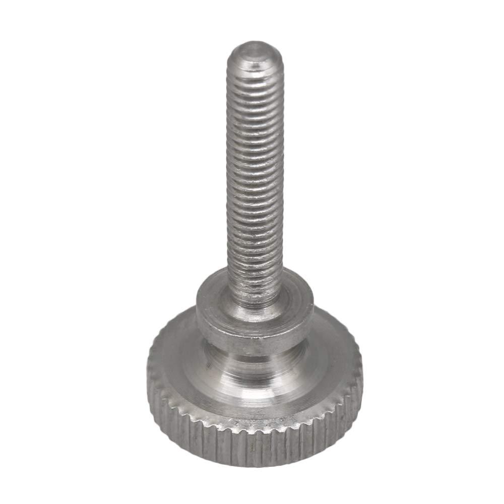 Yibuy 4PCS Flat Knurled Head M4x12mm Fully Threaded Thumb Screw Bolt