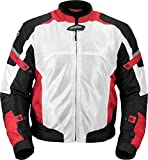 Pilot Motosport Men's Direct Air Mesh Motorcycle Jacket (V3) (White, XXX-Large)