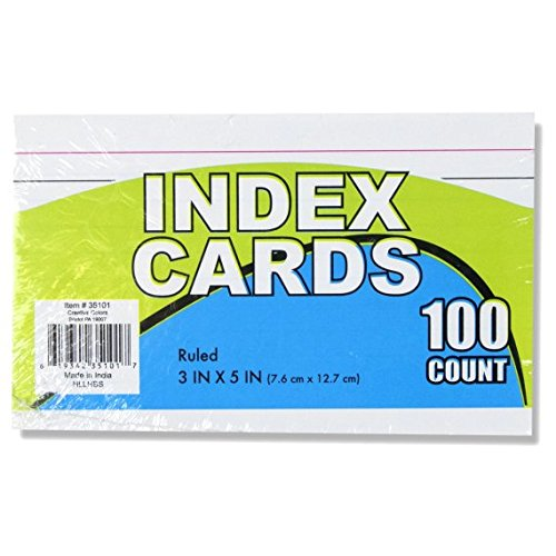 Bulk School Supplies Wholesale Box of 96 Packs of 100 Index Cards - 9,600 Total Cards