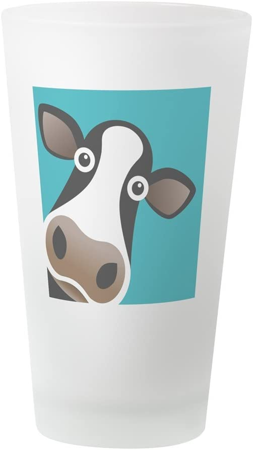 CafePress Cows Make Me Happy Pint Glass 16 oz Drinking Glass