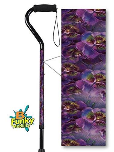 Walking Cane Adjustable Self Adjusting Purple Violet Pattern BFunkyMobility