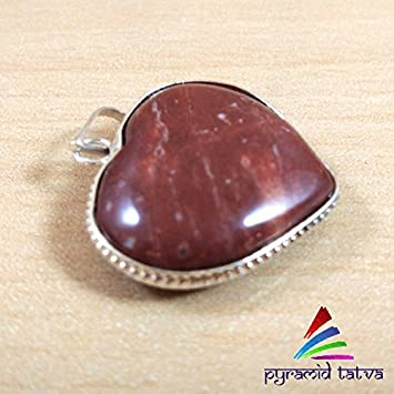 Amazon offer buy one get one free red jasper heart red jasper heart pendant chakra balancing aura mozeypictures Image collections