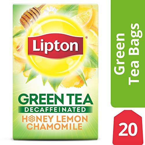 - Lipton Green Tea, Decaffeinated Honey Lemon Chamomile, 20 ct (Pack of 6)