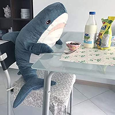AFYBL 39.4 inch Shark Giant Stuffed Animal Toy, Wildlife, Soft Polyester Fabric, Beautiful Shark Markings, Handcrafted Kids Huggable Pillow for Pretend Play, Travel, Nap Time: Toys & Games