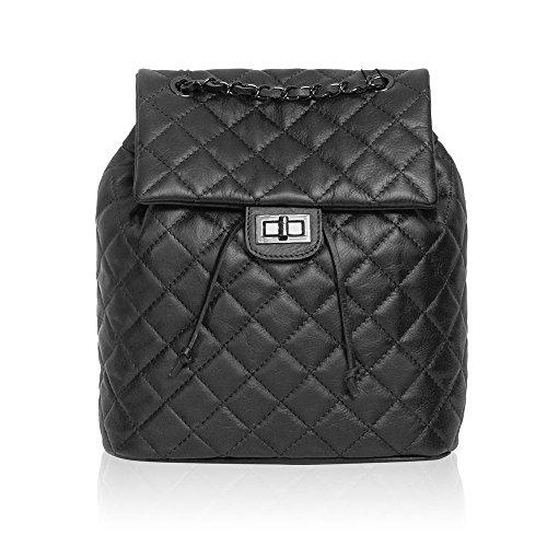 #MYITALIANBAG 71077 - Bolso mochila de Otra Piel para mujer negro