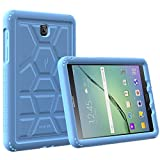 Galaxy Tab S2 8.0 Case - Poetic [Turtle Skin Series]-[Corner/Bumper Protection][Tactile side Grip][Sound-Amplification][Bottom Air Vents] Protective Silicone Case for Samsung Galaxy Tab S2 8.0 Blue