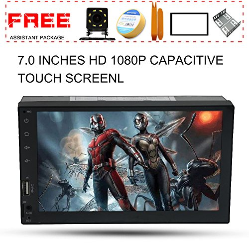 Upgraded 7 Inch Double Din Capacitive Touch Screen Car Stereo Radio Headunit with Free Rear Camera And Car Tuning Tools And Remote Control Support Mirror Link Audio Receiver MP5 Player by AUROADOR (Image #7)