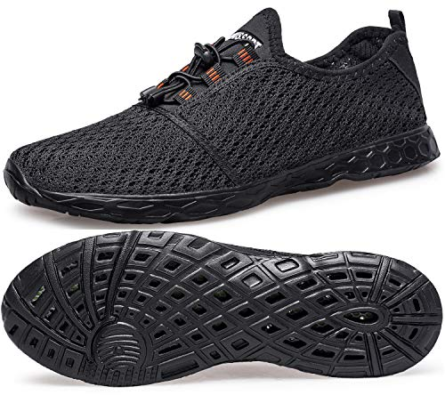 DOUSSPRT Men's Water Shoes Quick Drying Sports Aqua Shoes