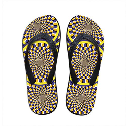 Mageed Anna Ladies flip Flops Paisley Printed Slippers Home Soft Sandals Casual Slippers Slip-on Shoes ()