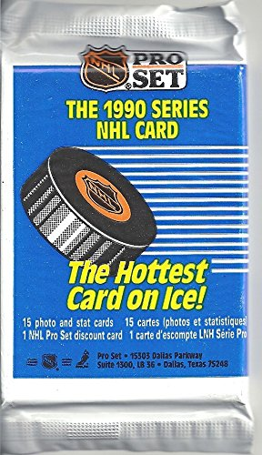1990 PRO SET NHL SERIES PACK OF HOCKEY CARDS - UNOPENED PACK OF 15 CARDS (FREE SHIPPING)
