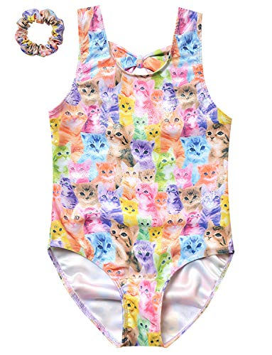 Cat Leotards for Girls Gymnastics Sparkly Dancing Body-suit Outfits Clothes -