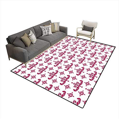 Room Home Bedroom Carpet Floor Mat Retro Wallpaper Seamless Pattern ()