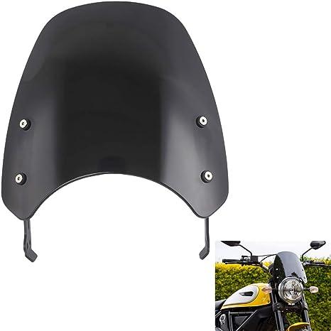 Amazon.com: psler Motorcycle Windshield WindScreen For ...