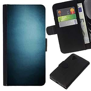 LECELL--Cuero de la tarjeta la carpeta del tirón Smartphone Slots Protección Holder For LG Nexus 5 D820 D821 -- Pendiente azul --