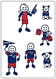 Siskiyou Sports NFL New England Patriots Small Family Decal Set