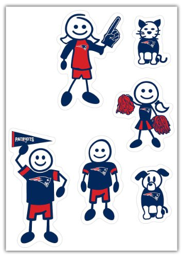 NFL New England Patriots Small Family Decal Set