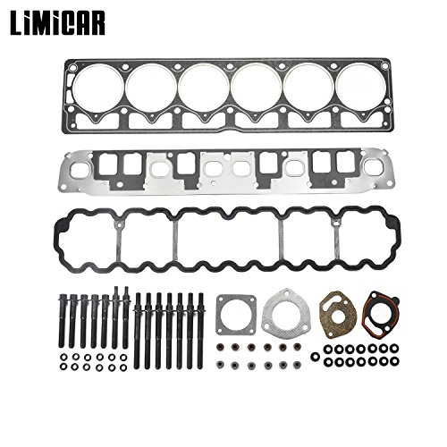 LIMICAR Cylinder Full Head Gasket Set Head Bolts For 1999-2001 Jeep Cherokee 1999-2003 Jeep Grand Cherokee 4.0L VIN S 2000-2003 Jeep TJ Wrangler 4.0L VIN S V