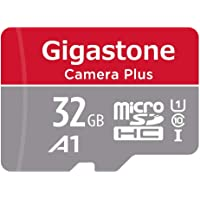 Gigastone 32GB Micro SD Card, Camera Plus, Full HD Available 90MB/S, U1 C10 Class 10 Micro SDHC, UHS-I Memory Card with Adapter