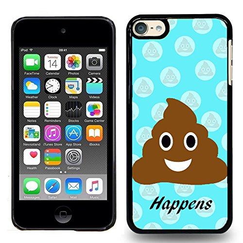 iPod Touch 5 / iPod Touch 6, Touch 5 / Touch 6 Case - Cool Funny Emoji Poop Happens Polka Dot - Designer Plastic Snap On Case (Ipod Polka 5 Touch Dot)