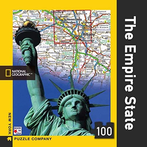 New York Puzzle Company - National Geographic The Empire State Mini - 100 Piece Jigsaw Puzzle