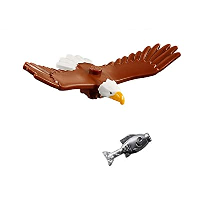 LEGO Outdoor Adventure Minifigure / Animal: Bald Eagle (with Silver Fish) 60202: Toys & Games