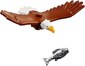 LEGO Outdoor Adventure Minifigure / Animal: Bald Eagle (with Silver Fish) 60202