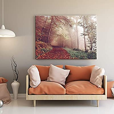 Path in Red Pine Forest - Canvas Art