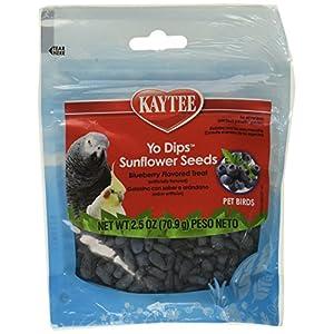 (3 Pack) Kaytee Fiesta Blueberry Flavored Yogurt Dipped Sunflower Seeds Bird Treat, 2.5 Ounce Each 73