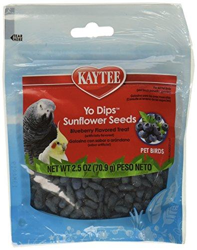 ((3 Pack) Kaytee Fiesta Blueberry Flavored Yogurt Dipped Sunflower Seeds Bird Treat, 2.5 Ounce)