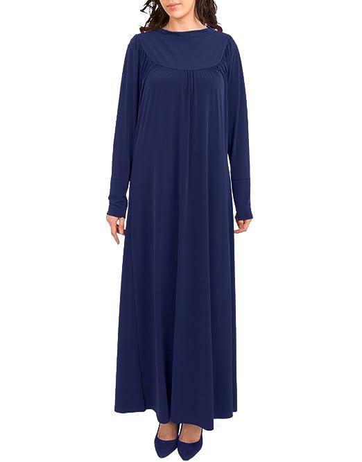 Hijab Gem Polo para Mujer Abaya con Cuello Redondo, Flare Modesto ...
