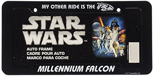 Chroma 42525 Black Star Wars Millennium Falcon Plastic - Other Is Car License My Plate