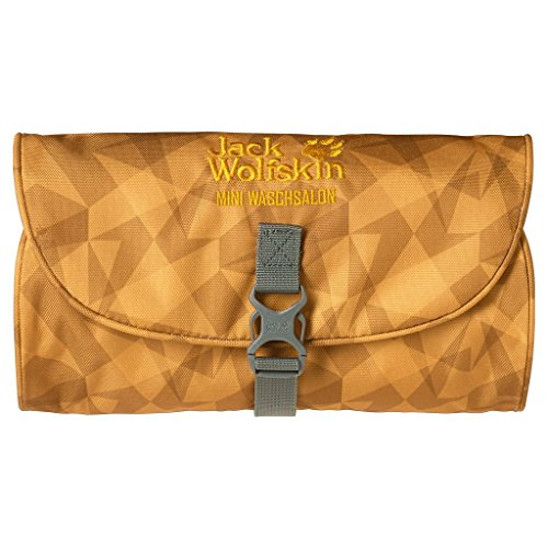 Jack Wolfskin beauty case Mini per il bagnetto salon, sunflower da uomo check, 26 x 15 x 1,5 cm, 0,7 litro, 86150-7924