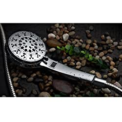 """HotelSpa 3 Colors LED Hand Shower with Temperature Display, Chrome, 4.25"""""""