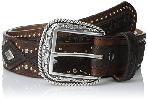 [Ariat Men's Diamond Concho Overlay, Aged Bark, 34] (Concho Western Leather)