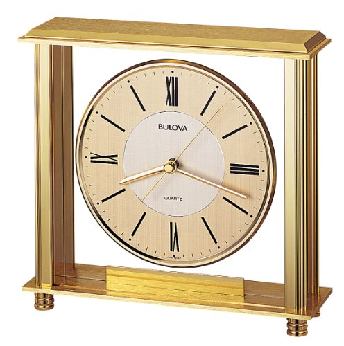 Bulova B1700 Grand Prix Clock, Brass