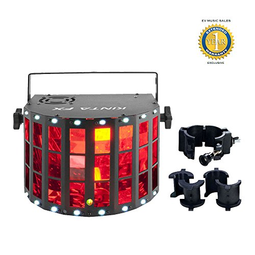 Chauvet Kinta FX 3-in-1 LED Multi-effects Fixture and CLP-10 Clamp Bundle with 1 Year Free Extended Warranty by Chauvet