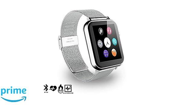 DAM. DMR088SLVSTEEL. Smartwatch A9 para iOS Y Android con ...