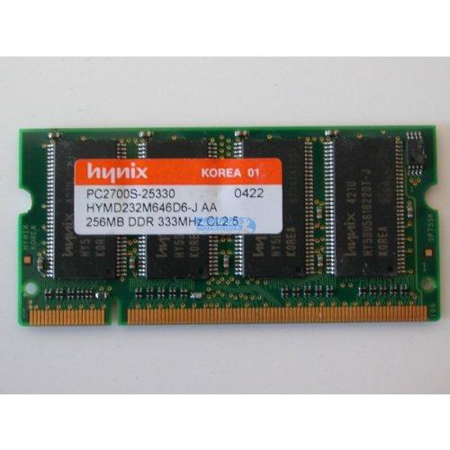 LAPTOP MEMORY, PC2700S-25330 256MB DDR 333MHz CL2.5 HYMD232M646D6-J AA, 383480-001
