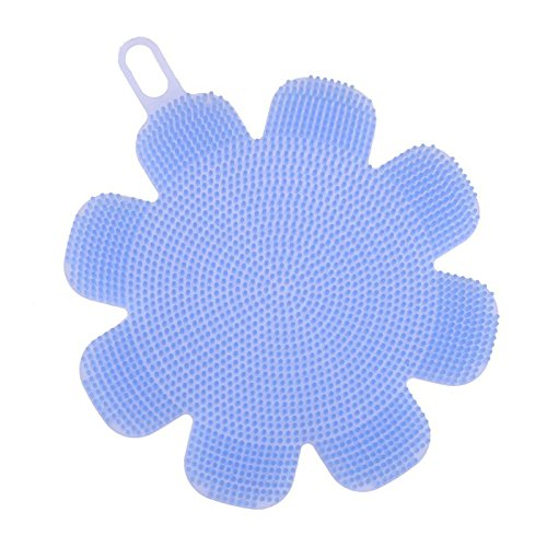 Cleaning Brushes - Colorful Stars Flower Silicone Dish Bowl Pad Cleaning Brush Easy Wash Scrubber Fruits Vegetables - Stainless Kitchen Pastry Dishes Clean Electric Vessels Makeup Metal Long