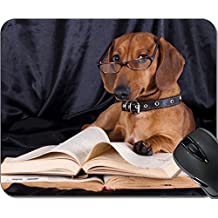 MSD Natural Rubber Mousepad Mouse Pads/Mat design: 10142599 puppy purebred dachshund