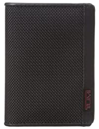 Tumi Men's Alpha Gusseted Card Case with ID, Black, One Size