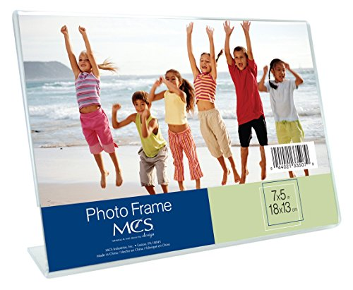 MCS 5x7 Inch Bent Acrylic Picture Frame, Horizontal (33507)